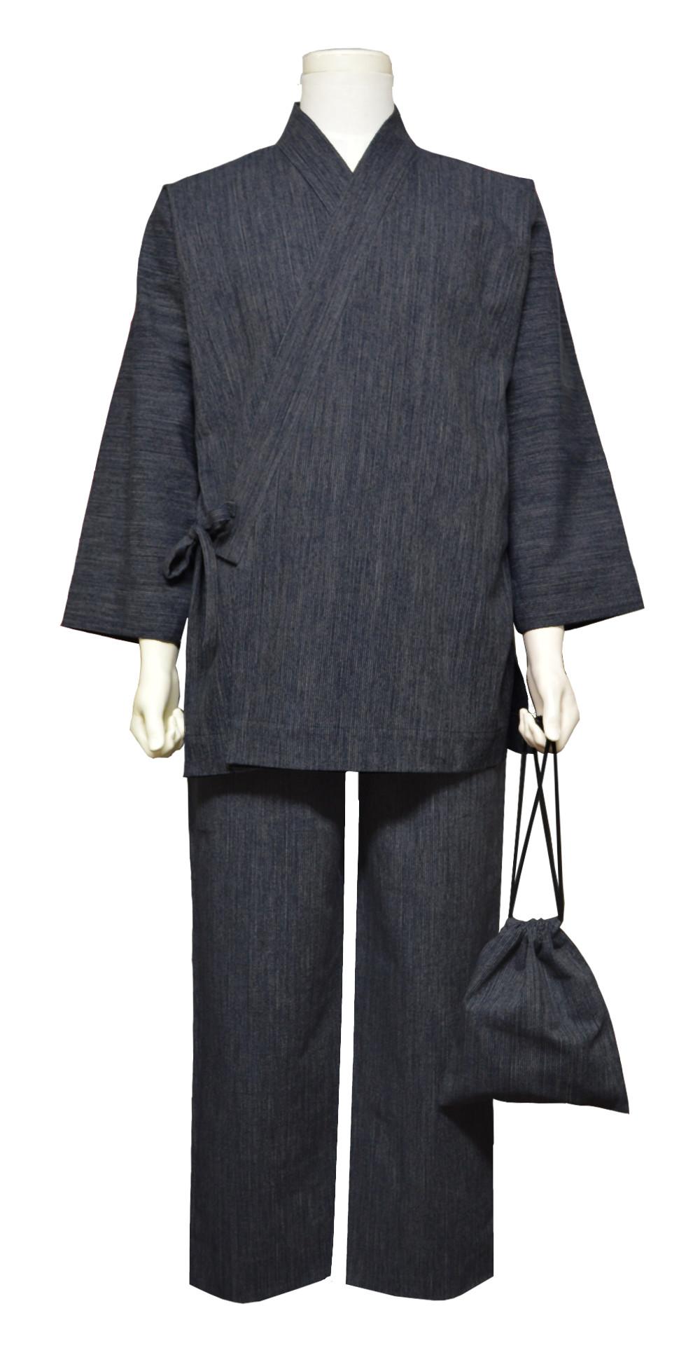 木綿の作務衣(OB1236-ネイビー)