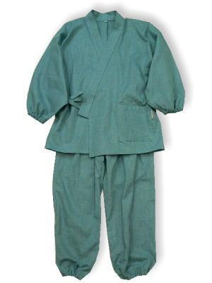 子供作務衣(88630-花浅葱)(サイズ:120)