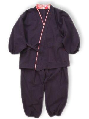 子供作務衣(2012-パープル)(サイズ:100)