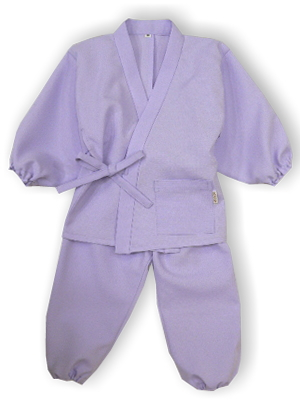 子供作務衣(かぐらB1515-藤色)(サイズ:80)
