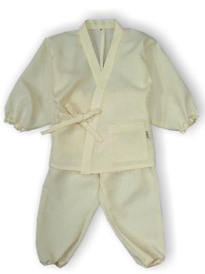 子供作務衣(かぐらB1515-生成)(サイズ:80)