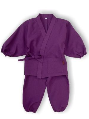 子供作務衣(かぐらB1515-紫)(サイズ:80)