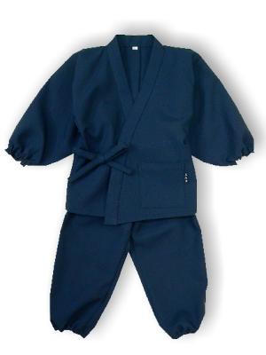子供作務衣(かぐらB1515-濃紺)(サイズ:80)