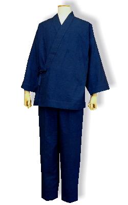 綿麻の作務衣(7000-5インディゴ)