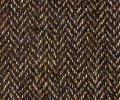 ウールの作務衣(ヘリンボーン-茶)