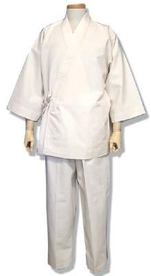 木綿の作務衣(2000-1白)