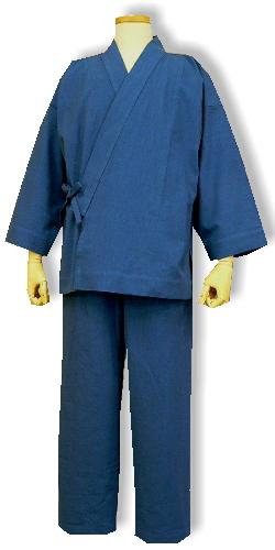 木綿の作務衣(2012-ブルー)